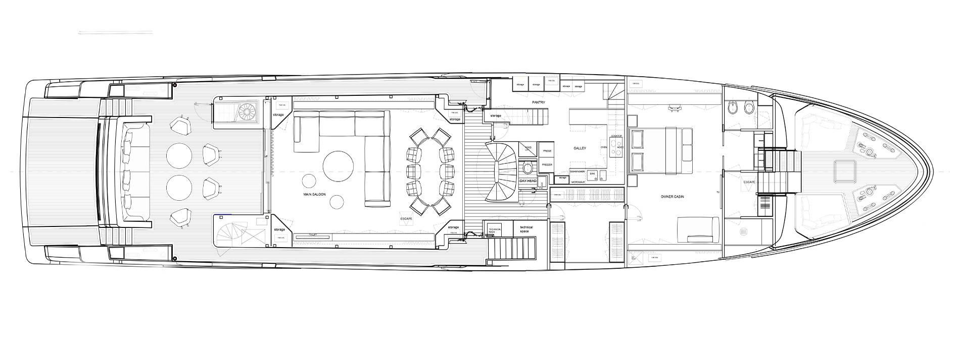 Sanlorenzo Yachts SD118 Main deck