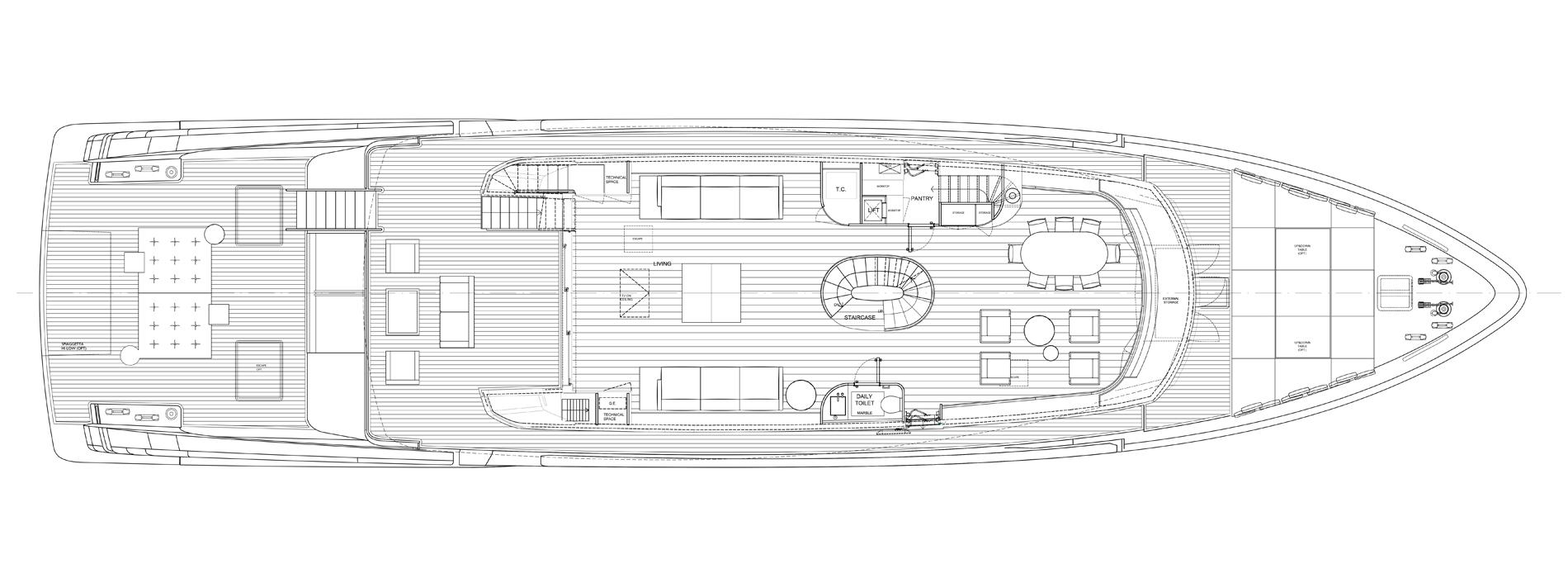 Sanlorenzo Yachts SX112 Main deck Version A