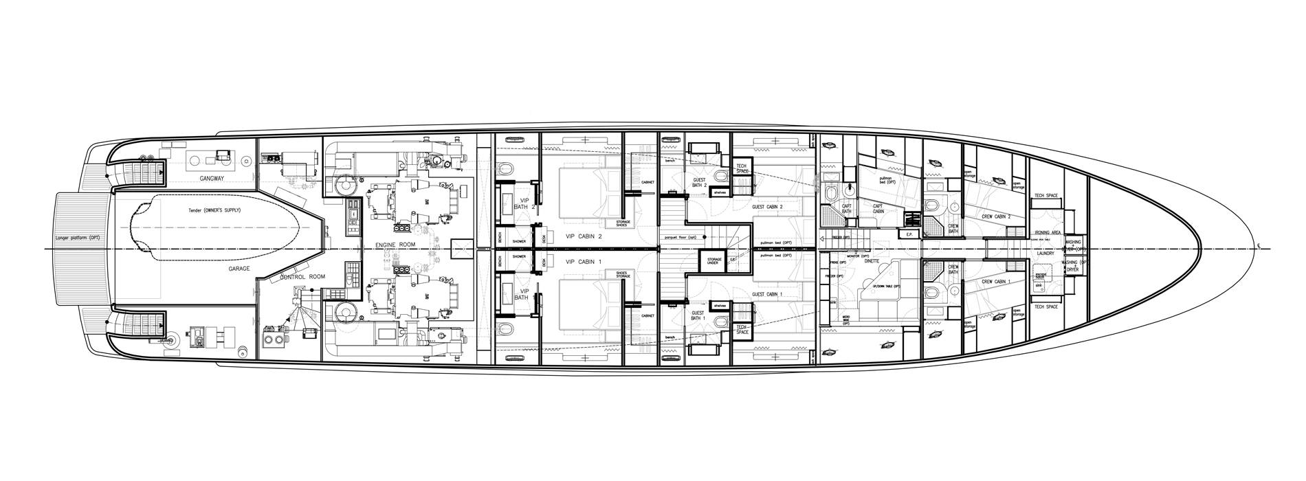 Sanlorenzo Yachts SD122-27 under offer Lower Deck