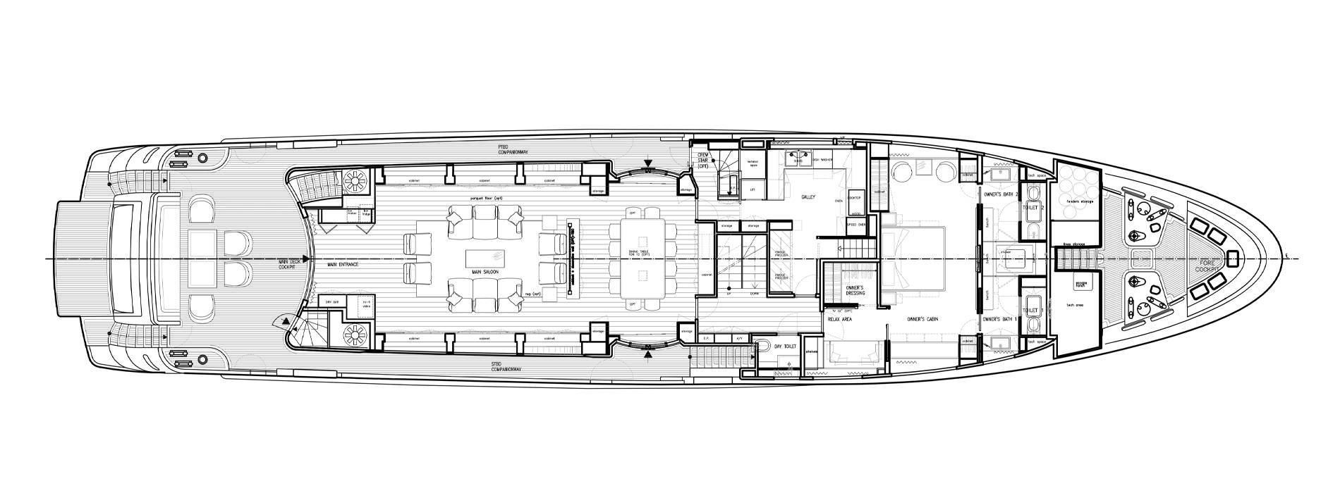 Sanlorenzo Yachts SD122-27 under offer 主甲板