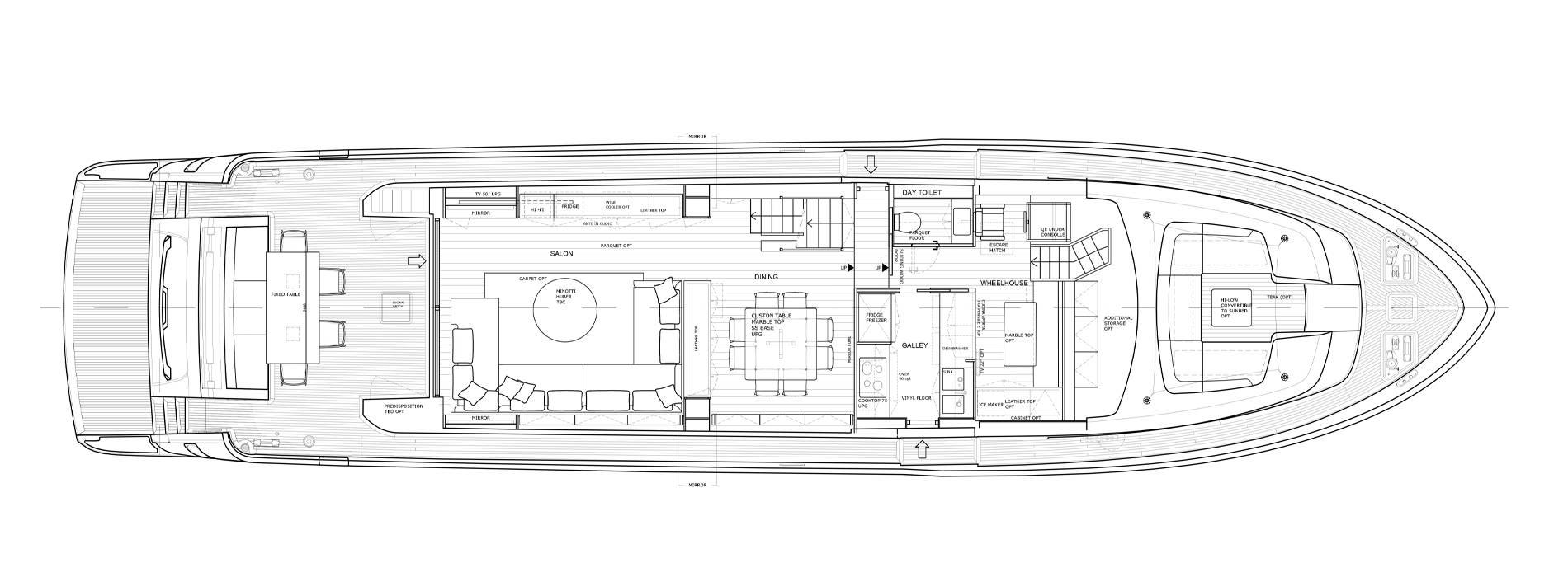 Sanlorenzo Yachts SL86-727 主甲板