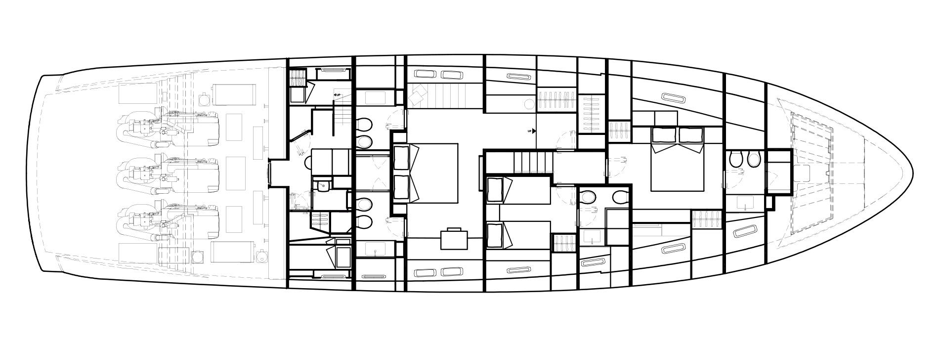 Sanlorenzo Yachts SX88 Lower Deck Version B