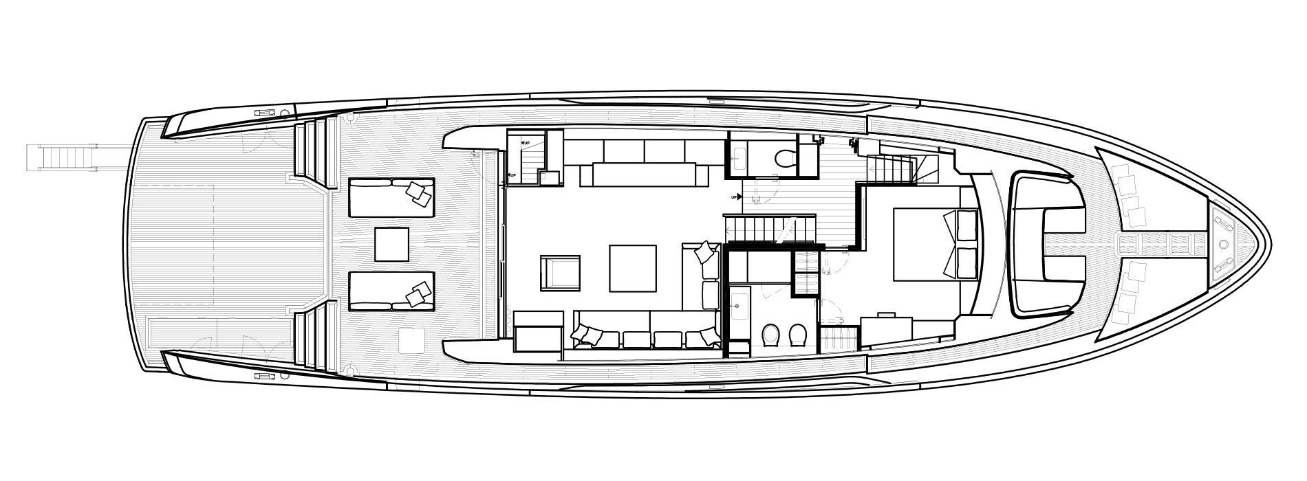 Sanlorenzo Yachts SX88 Main deck Version C