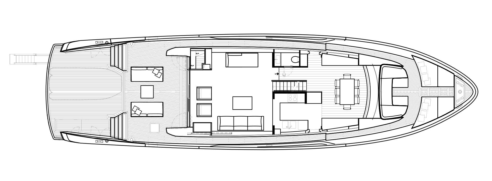 Sanlorenzo Yachts SX88 Main deck Version B open Galley