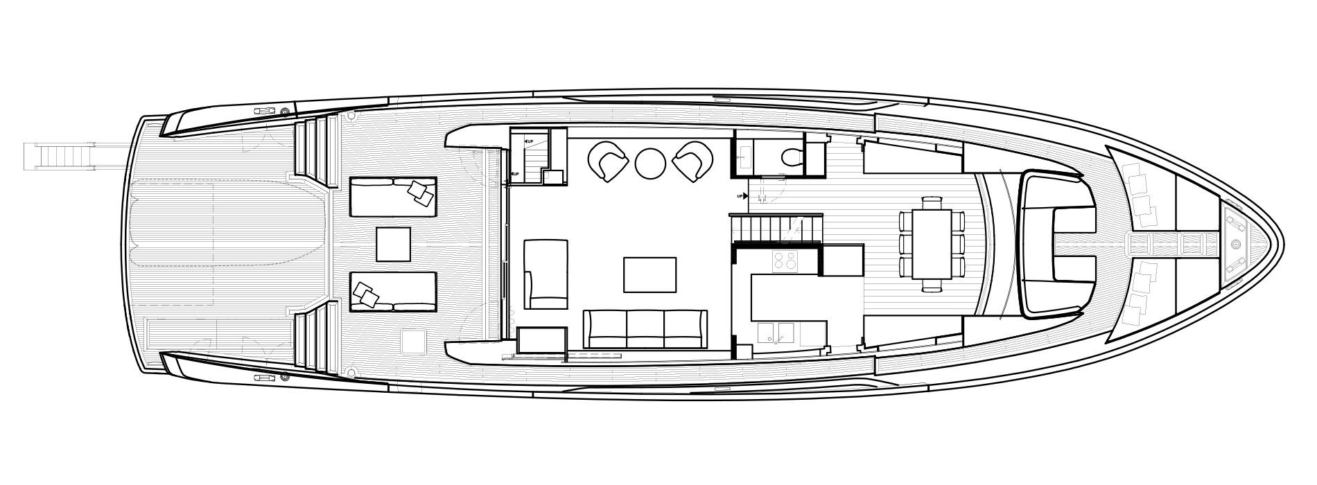Sanlorenzo Yachts SX88 Main deck Version A Open Galley
