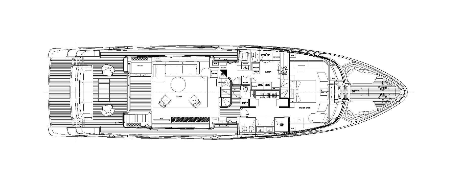 Sanlorenzo Yachts SD96 Main deck