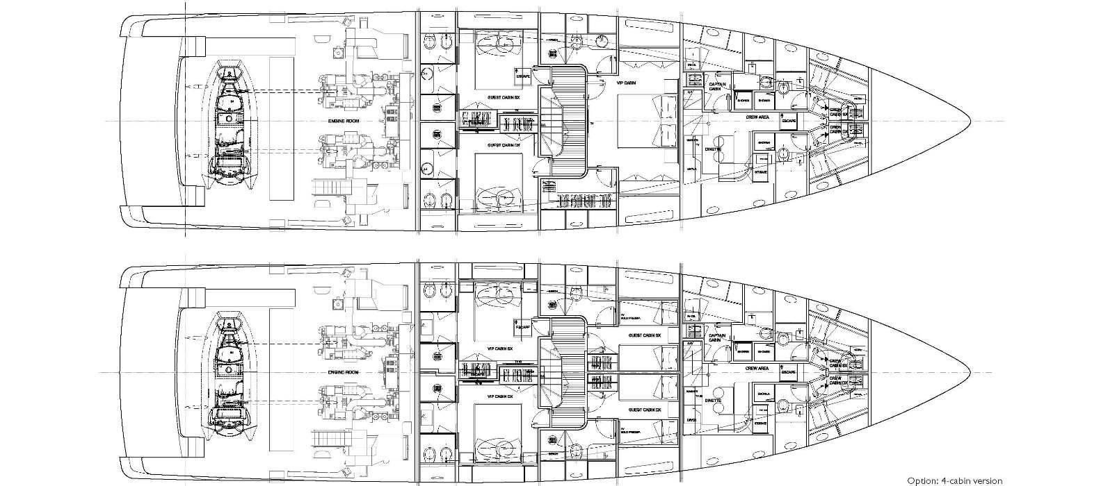 Sanlorenzo Yachts SD96 Lower deck